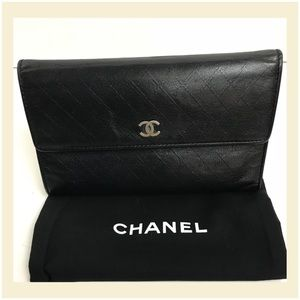 Authentic Chanel Long Quilted wallet